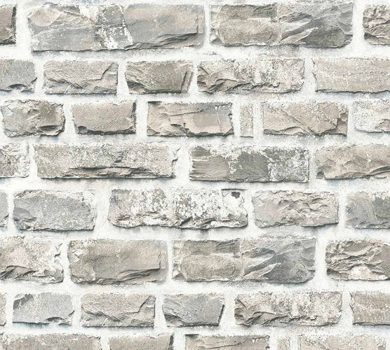 Wallpaper Neue Bude 2.0 stone bricks wall beige grey 36140-2 online kaufen