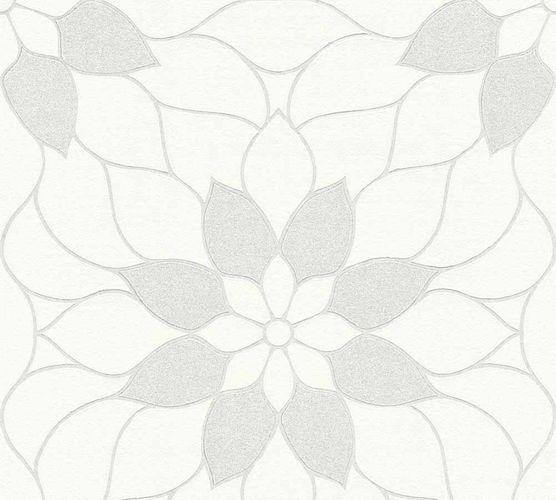 Vliestapete Neue Bude 2.0 Blumen weiß hellgrau 36170-7 online kaufen
