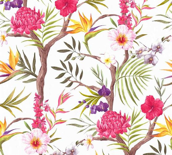 Wallpaper Neue Bude 2.0 floral bloom white colourful 36202-1 online kaufen