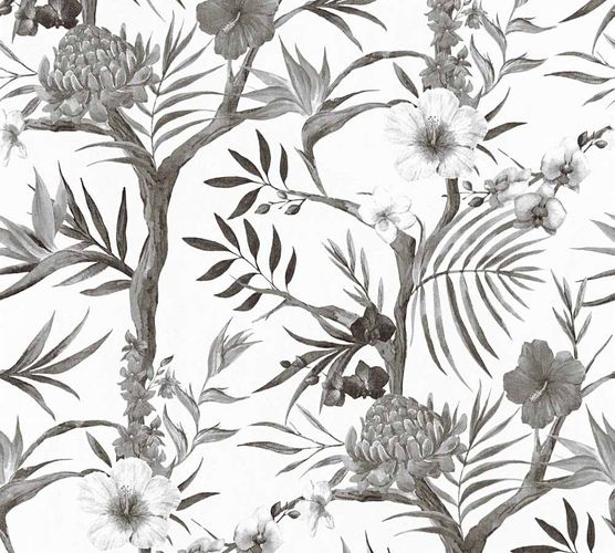 Wallpaper Neue Bude 2.0 floral bloom black white 36202-2 online kaufen