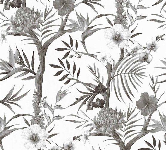 Vliestapete Neue Bude 2.0 Blumen Blüten schwarz weiß 36202-2 online kaufen