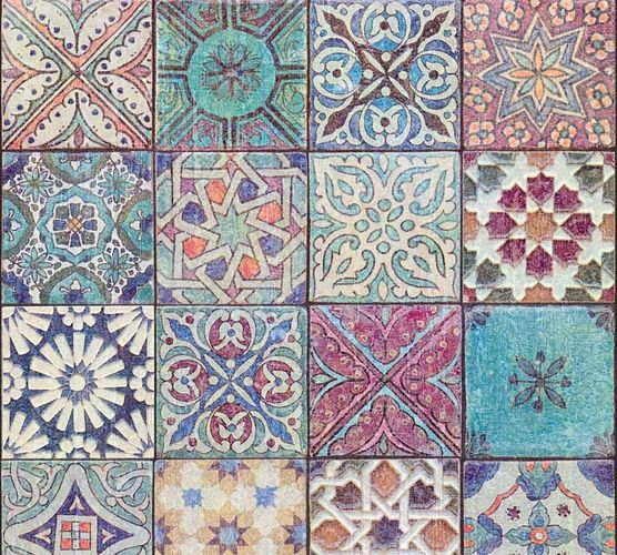 Wallpaper Neue Bude 2.0 mosaic tiles design colourful 36205-1 online kaufen