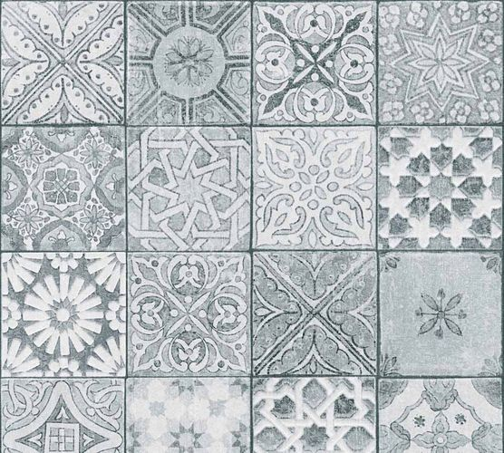 Wallpaper mosaic tiles design grey white 36205-3 online kaufen