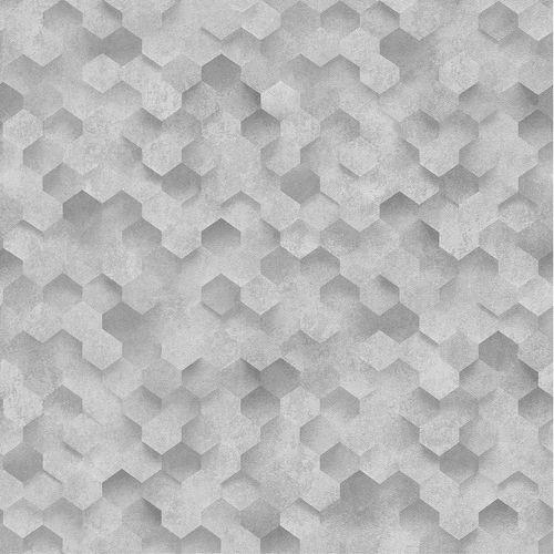 Vliestapete 3D Waben-Optik grau weiß P+S 42512-30 online kaufen