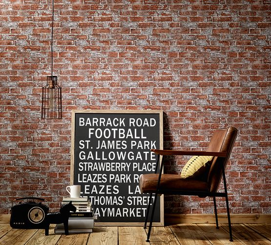 Wallpaper 3D stone bricks red brown Erismann 6318-06 online kaufen