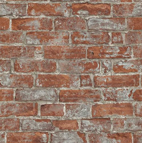 Wallpaper 3D stone bricks red brown Erismann 6318-06