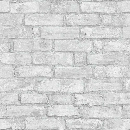 Wallpaper 3D stone bricks light grey Erismann 6318-10