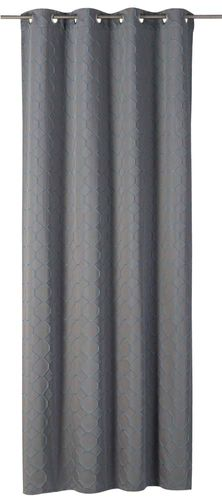 Eyelet Curtain comb grey-blue non-transparent Alhambra 199203 online kaufen