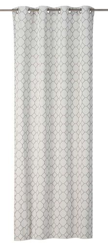 Eyelet Curtain comb offwhite-grey non-transparent Alhambra 199227 online kaufen