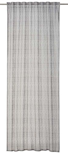Loop Curtain plain grey semi-transparent Charisma 198985