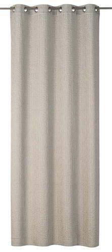Eyelet Curtain plain taupe non-transparent Corteza 199135 online kaufen