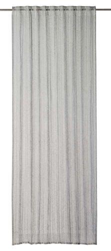 Loop Curtain plain grey semi-transparent Crincle 199074 online kaufen