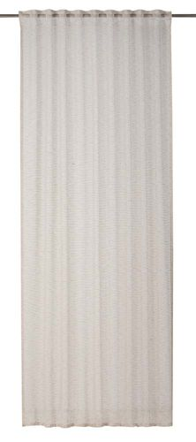 Loop Curtain plain beige semi-transparent Linnea 199265 online kaufen