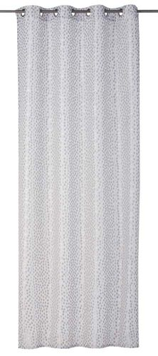 Eyelet Curtain dotted silver non-transparent Millepunti 199104 online kaufen