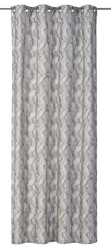 Eyelet Curtain wave design light grey non-transparent Moiré 199050 online kaufen