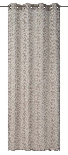 Eyelet Curtain striped brown non-transparent Safari 199166 online kaufen