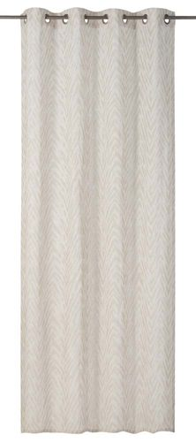 Eyelet Curtain striped beige non-transparent Safari 199173 online kaufen