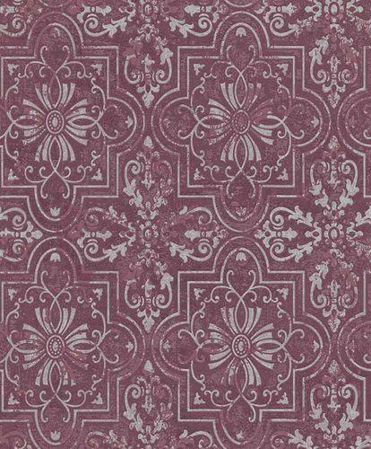 Vliestapete Ornament violett silber Erismann Vintage 6337-16