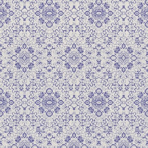 Wallpaper Rasch Textil Palau ornament blue white 228891