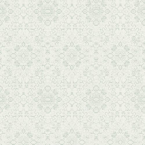 Wallpaper Rasch Textil Palau ornament white grey 228907