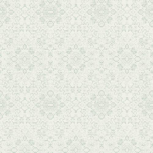 Vliestapete Rasch Textil Ornament weiß grüngrau 228907