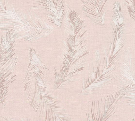 Wallpaper palm leaf pink grey AS Creation 35896-2