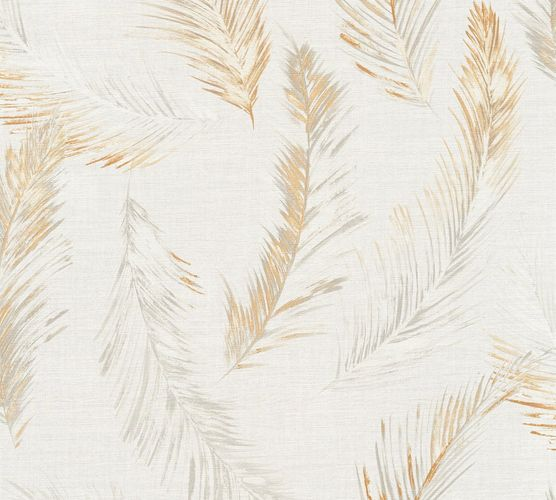 Wallpaper palm leaf cream grey AS Creation 35896-3