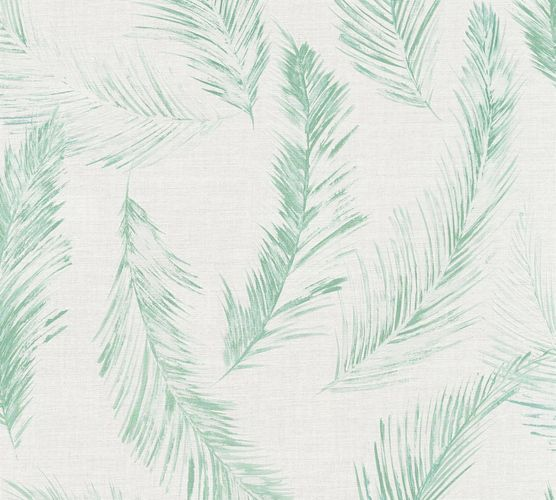Wallpaper palm leaf cream green AS Creation 35896-4