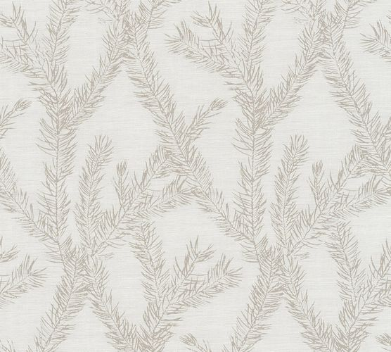 Wallpaper tendril white cream silver AS Creation 35898-3