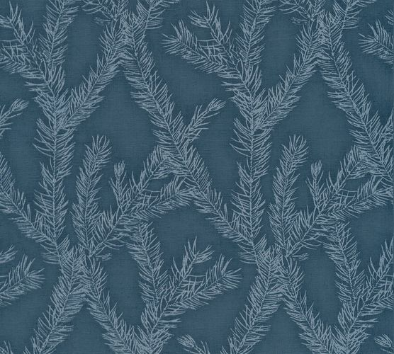 Wallpaper tendril dark blue silver AS Creation 35898-5