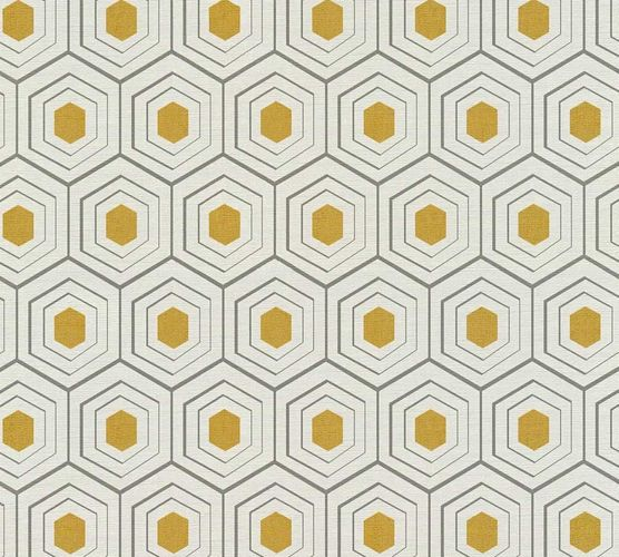 Wallpaper comb pattern cream grey AS Creation 35899-3