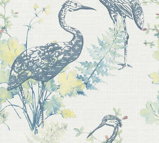 Wallpaper crane nature white blue AS Creation 36092-1 online kaufen