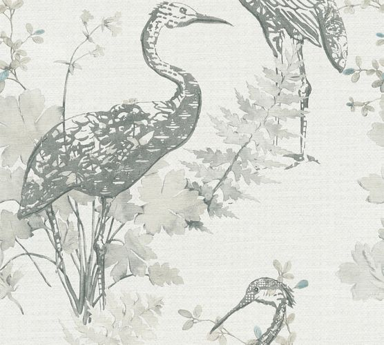 Wallpaper crane nature cream grey AS Creation 36092-2 online kaufen