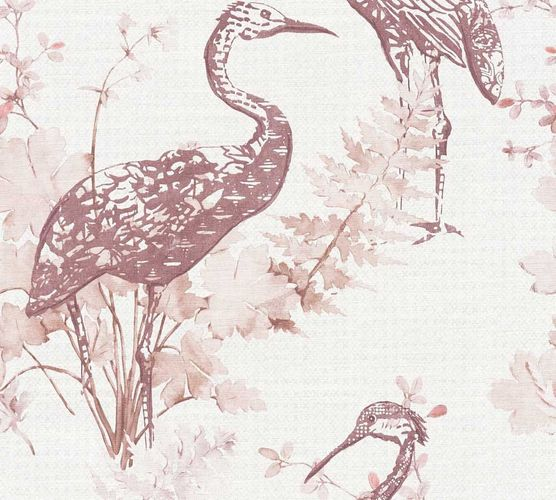 Wallpaper crane nature beige pink AS Creation 36092-4