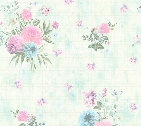 Wallpaper flower light green blue AS Creation 35873-3 online kaufen