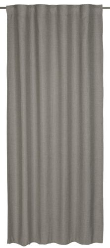 Loop curtain BARBARA Home Collection textured grey 140x255cm online kaufen