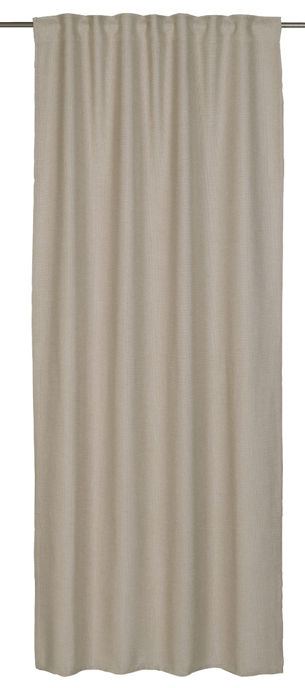 Loop Curtain Barbara Home Collection Textured Beige 140x255cm