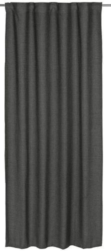 Loop curtain BARBARA Home Collection textured grey 140x255cm