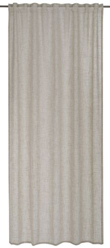 Loop curtain BARBARA Home Collection plain taupe 140x255cm online kaufen
