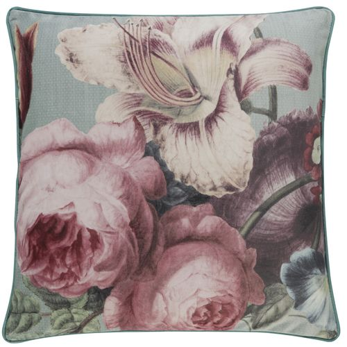 Kissenhülle BARBARA Home Collection Blumen rosa 50x50cm online kaufen