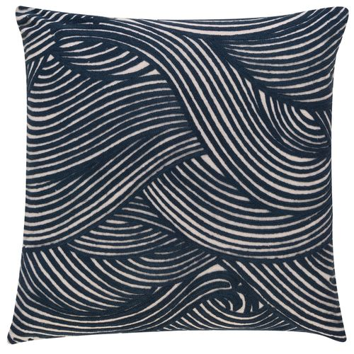 Kissenhülle BARBARA Home Collection Wellen blau 50x50cm online kaufen