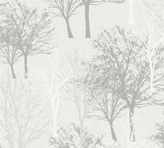 Wallpaper tree cream grey white gloss AS Creation 36147-2 online kaufen
