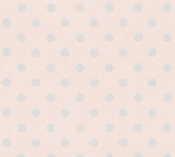 Wallpaper dots rose light grey AS Creation 36148-1