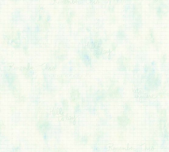 Wallpaper graphic light green blue AS Creation 35872-1