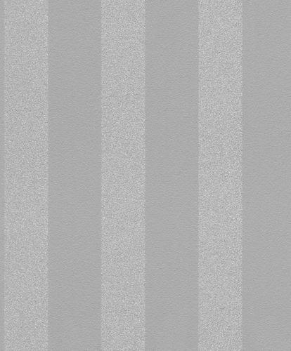 Vliestapete Rasch Streifen Grau Silber Glitzer 523539