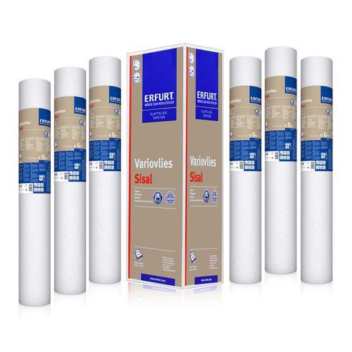 6x Erfurt Lining Paper Sisal Non-woven Wallpaper 90m² online kaufen
