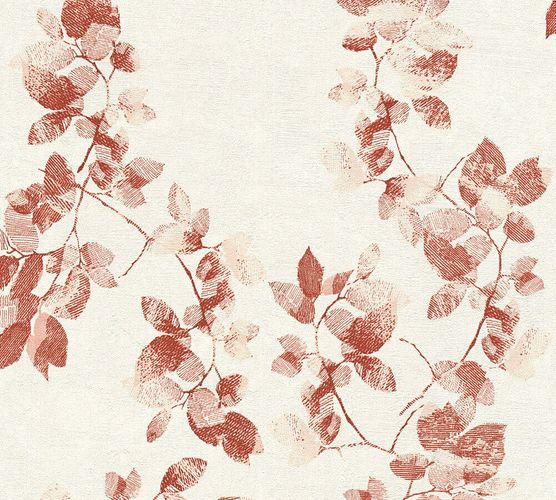 Wallpaper Daniel Hechter leaf tendril red 34494-1