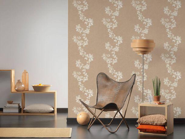 Wallpaper Daniel Hechter leaf tendril beige brown 34495-2 online kaufen