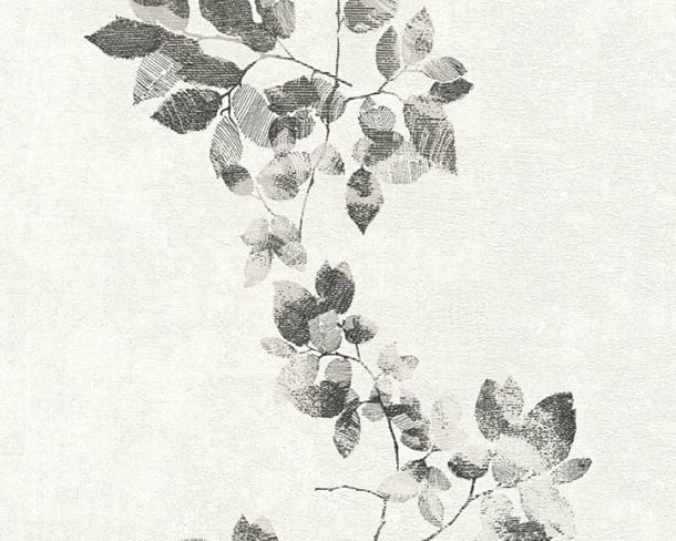 Wallpaper Daniel Hechter leaf tendril black 34495-3 online kaufen