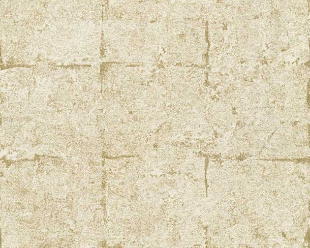 Wallpaper Daniel Hechter concrete tiles gold 36131-2